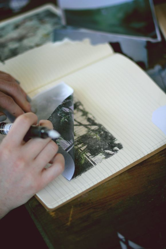 How to get photos into a journal without adding extra bulk.