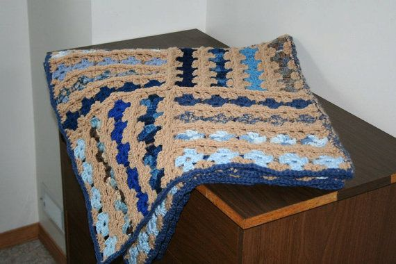 Biege and Blue Tones Baby/Lap Blanket on Etsy, $199.70 CAD