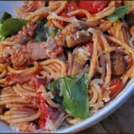 Chicken Cacciatore - Spaghetti and Smoky Tomato Sauce
