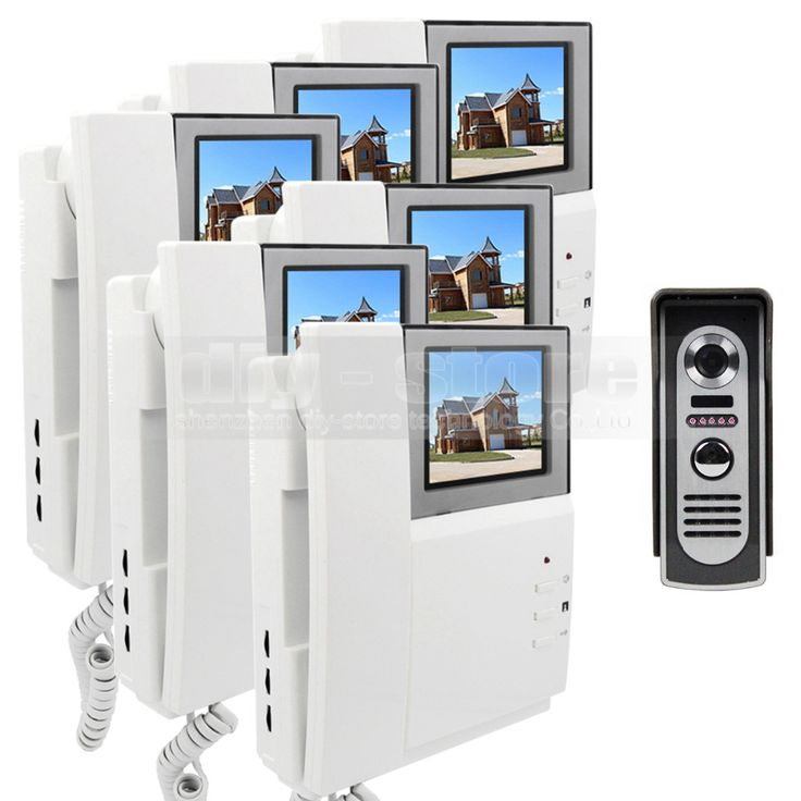 DIYSECUR 4.3inch 800 x 480 HD Monitor Video Door Phone Video Intercom Doorbell + IR Night Vision Camera 1 Camera 6 Monitors #Affiliate