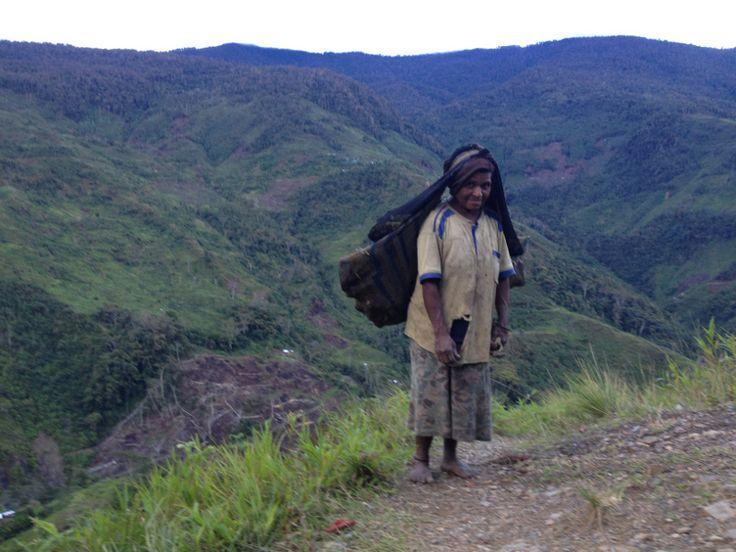 menuju Desa pelebip, pegunungan Bintang papua