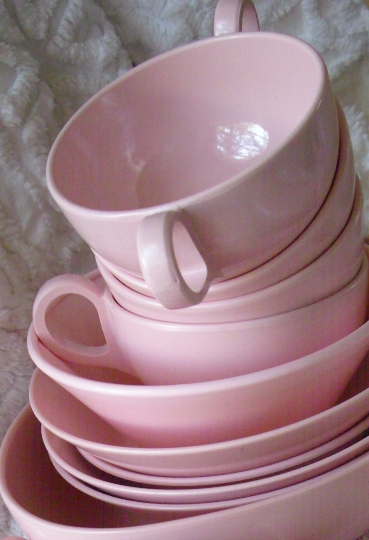 From my pink Mel collection! & Best 38 Melamine/Melmac images on Pinterest   Dish sets Dishes and ...