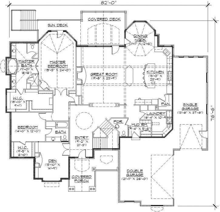 English Country Style House Plans 3326 Square Foot Home