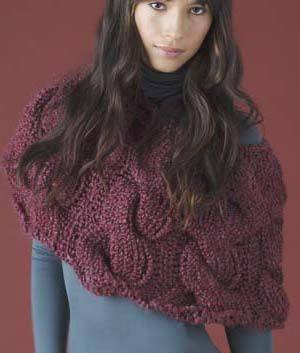 Knit Cable Capelet--free pattern