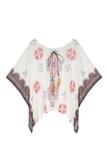 White kimono with feathers #TALLYWEiJL