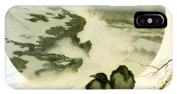 March IPhone X Case featuring the painting March 1890 by Kittelsen Theodor Severin