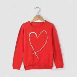 Pull col rond brodé coeur RIessentiel - Trui met hart RIessentiel