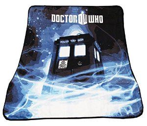 "Doctor Who Throw Blanket - TARDIS Gallifrey Fleece - 50"" x 60"" Afghan from Doctor Who Disc: Affiliate Link"