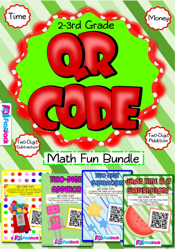 71 best qr codesanning with ipad activities images on pinterest qr code math fun bundle grade qr codes are all the rage and they will have your child wanting to do all sorts of math problems each title contains 1 fandeluxe Image collections