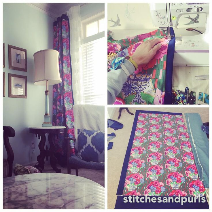 """17 curtidas, 1 comentários - Natalie Lodato (@stitchesandpurls) no Instagram: """"And there were new curtains. And they were happy 😊💄🌺. #sorryhusbandilikepink #sewing…"""""""