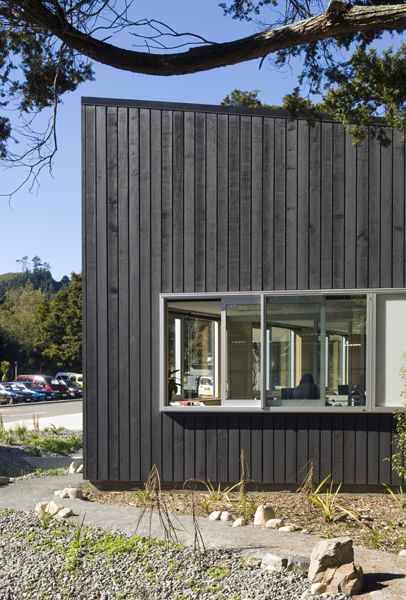 MAF Multipurpose BuildingExterior showing Roughsawn Pine Reverse Board & Batten Cladding  Image credit: Paul McCredie