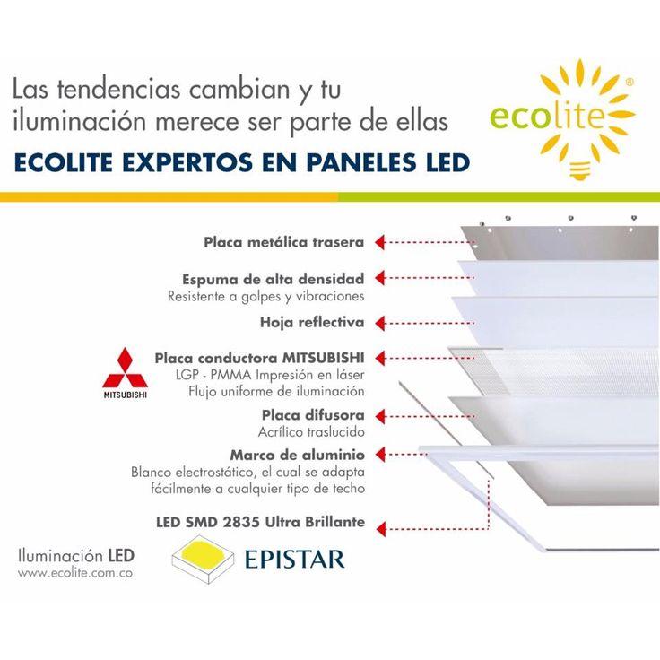 Los paneles LED Ecolite son fabricados bajos altos estándares de calidad y tecnología. Son el remplazo directo de la luz fluorescente tradicional T8. Conoce todo nuestro portafolio de iluminación LED www.ecolite.com.co o llámanos al 316 875-9639