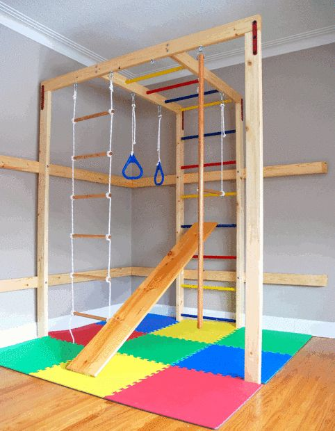 Home gym for children  This is an awesome idea!  #kidsmats #exercise #fitness  www.greatmats.com