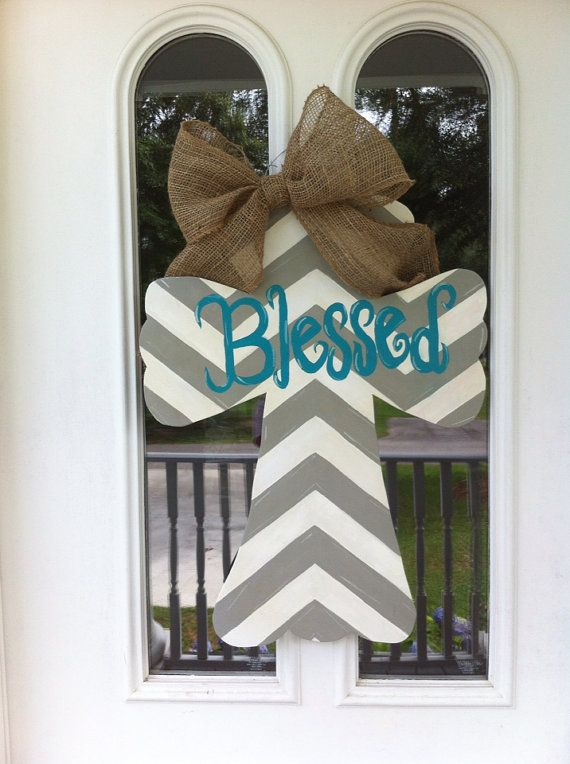 Hey, I found this really awesome Etsy listing at http://www.etsy.com/listing/155866118/chevron-cross-door-hanger-blessed