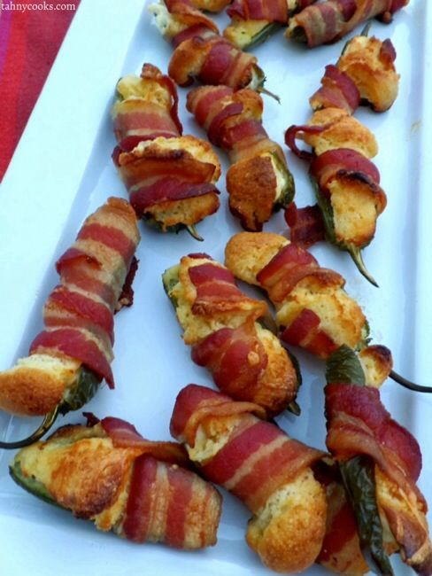 Cornbread Filled Bacon Cream Cheese Jalapeño Poppers
