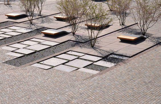 Zollhallen Plaza | Freiburg Germany | Atelier Dreiseitl