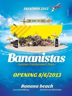 The new BANANISTAS CAFE BAR @ Banana Beach Skiathos June 2013