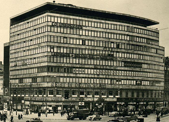 Erich Mendelsohn, Columbushouse, Berlin 1931-32. STYL MIĘDZYNARODOWY