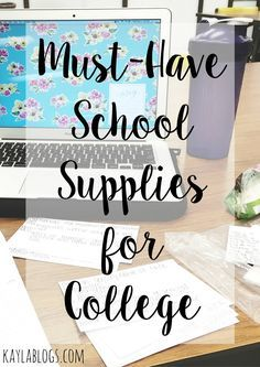 A list of the must have school supplies for college! From pencil cases to staplers, this list has everything you'll need for your freshman year of college.