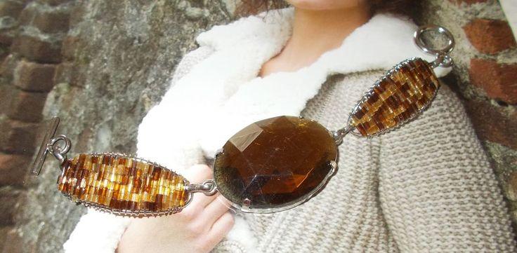 Armband Modeschmuck Naturtöne, Knebelverschluß Metall/Glasperlen Fädel in Uhren & Schmuck, Modeschmuck, Armbänder | eBay!