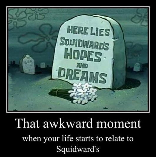 that awkward moment squidward spongebob
