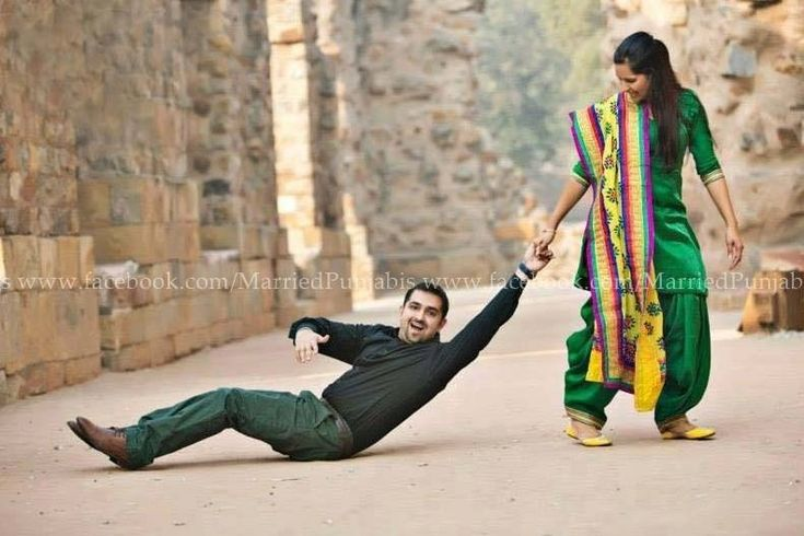 Funny punjabi couple pre wedding photography ❤️