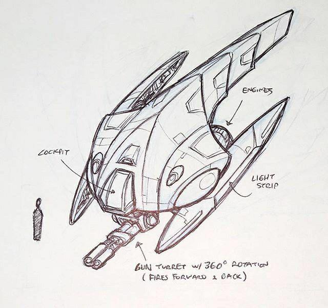Star Wars Gunship Sci Fi Concept Art Space Ship Concept Art