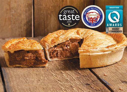 Large Steak and Stout Pie