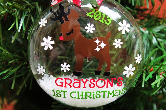 Baby's First Christmas Ornament Personalized by frecklefoxboutique