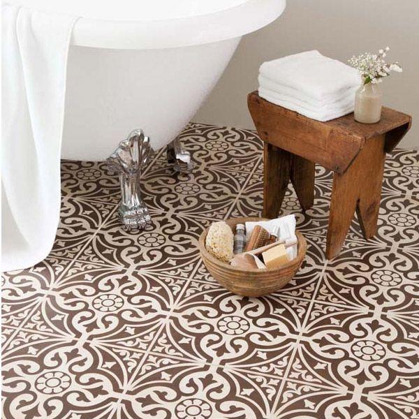 9 Devonstone Brown Feature Floor Tiles - 331x331mm profile large image view 2