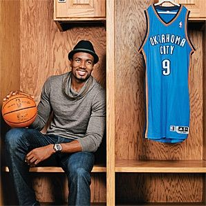 Serge Ibaka. Yes he fits my type tall, dark, handsome and has an accent. That's my weakness.