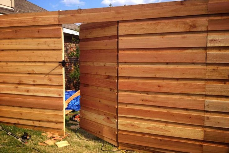 Simple Horizontal Privacy Fence How To Design Horizontal