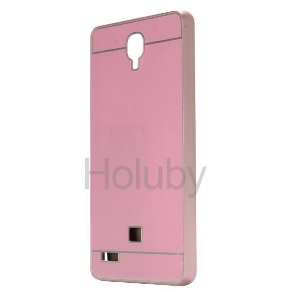 Shock-proof Aluminium Bumper+PC Back Cover Case  for Miui Xiaomi Redmi Note (Pink)