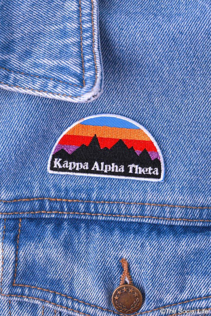 Kappa Alpha Theta Mountains Peel-n-Stick Badge
