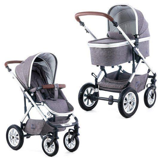 Schicker Kombi-Kinderwagen ab der Geburt. Inklusive Regenschutz und Adapter-Set für Ihre Babyschale. Moon Nuova