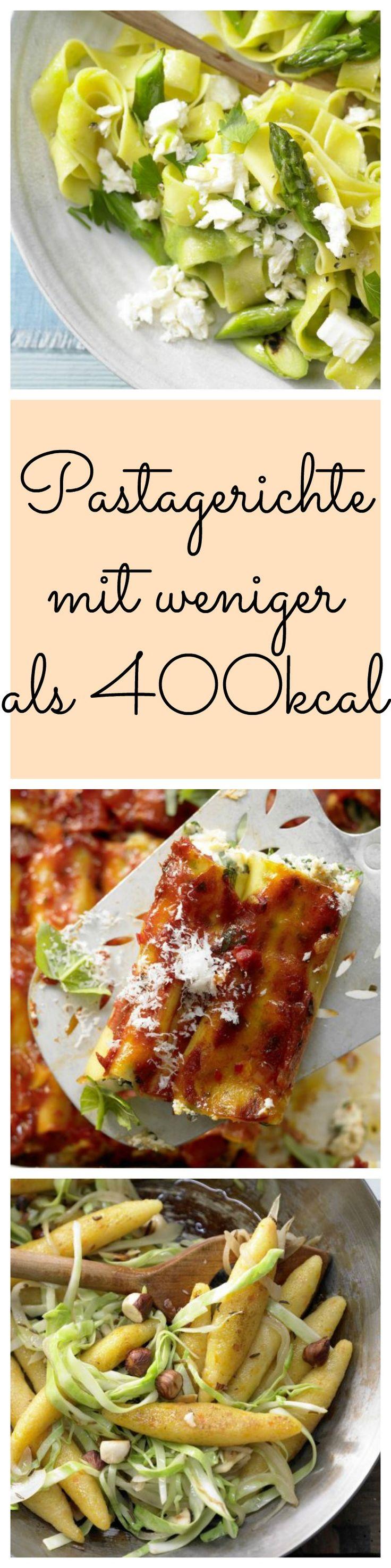 Egal ob Spaghetti, Fussili oder Penne. Pasta muss nicht immer kalorienhaltig bedeuten. Unsere Nudelgerichte weniger als 400 Kalorien und sind trotzdem lecker.