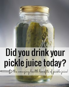 Have cramps? A hangover? PMS? How about heartburn? The amazing health benefits of pickle juice - and why you should be drinking pickle juice every day. Seriously.