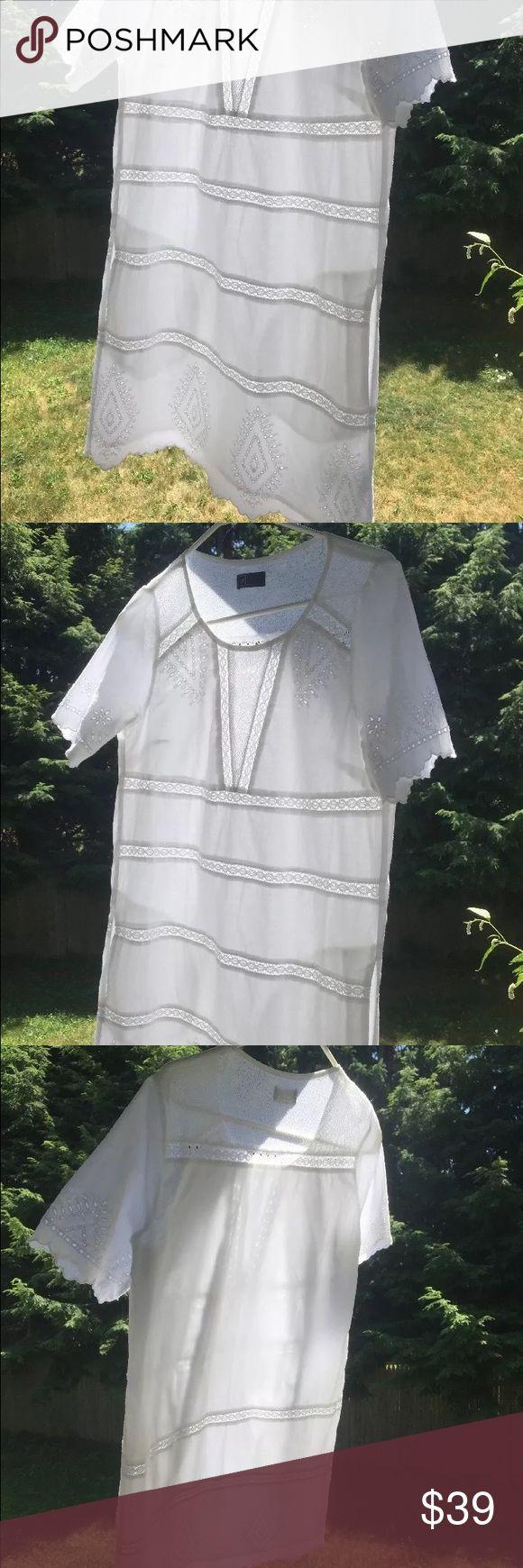 Selling this GAP White eyelet short sleeve dress with pockets on Poshmark! My username is: spenway. #shopmycloset #poshmark #fashion #shopping #style #forsale #GAP #Dresses & Skirts