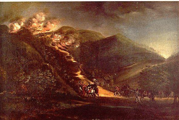 Batalla de la cuchilla del Tambo - Jose Maria Espinosa Prieto (1796-1883)  Técnica:Oleo sobre tela Dimensiones:81x121cms Año (creación o publicación):1845-1860 Ubicación:Museo Nacional de Colombia.