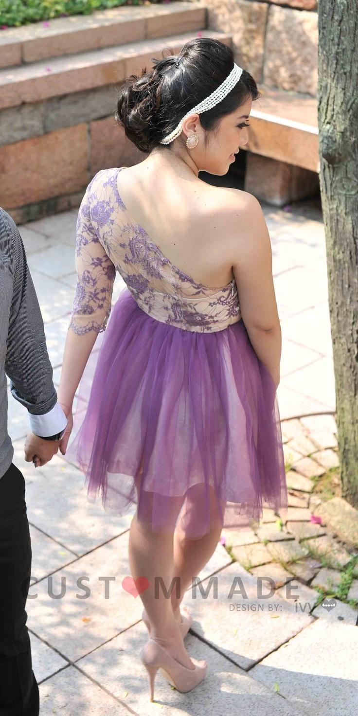 #custommmade #tutuskirt #purplelace #oneshoulder #minidress