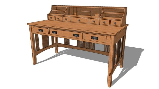 mission style writing desk plans mission furniture plans