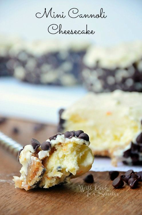 Mini Cannoli Cheesecakes - Will Cook For Smiles