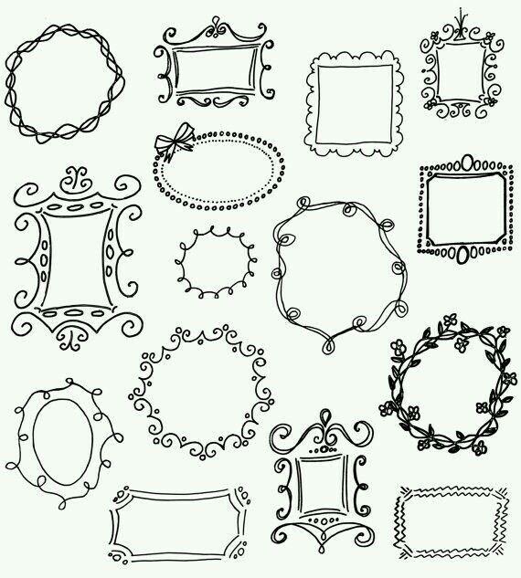 15 best doodle frames  u0026 border labels images on pinterest