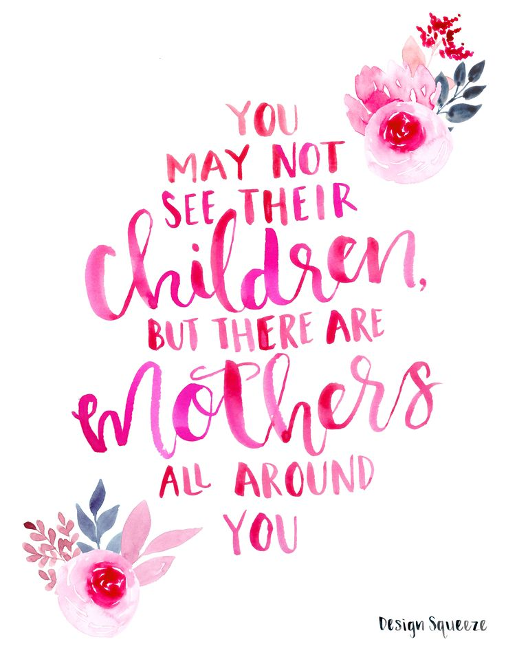 those who have lost a child, suffered a miscarriage or long to be a mama  <3