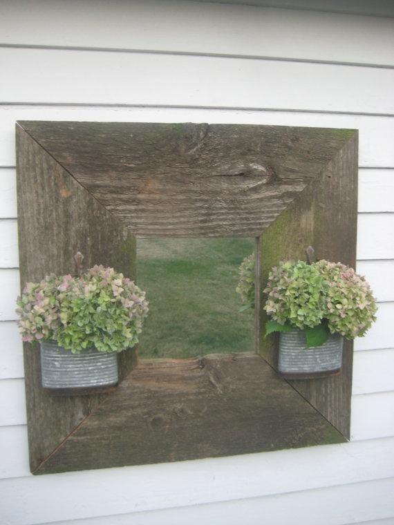 Barn Wood Mirror Rustic Home Decor: Reclaimed Barn Wood Mirror