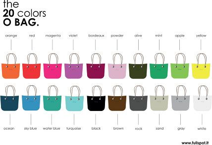 No Pantone but Pantone colors for O bag