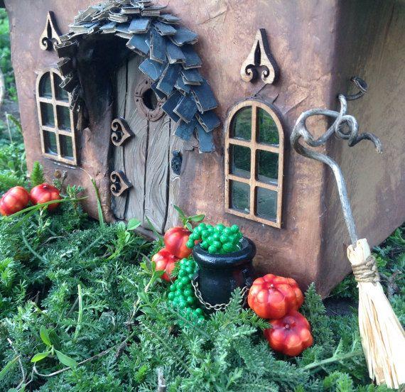 miniature witchs cauldron hallowwen decoration by beneaththeferns halloween - Miniature Halloween Decorations
