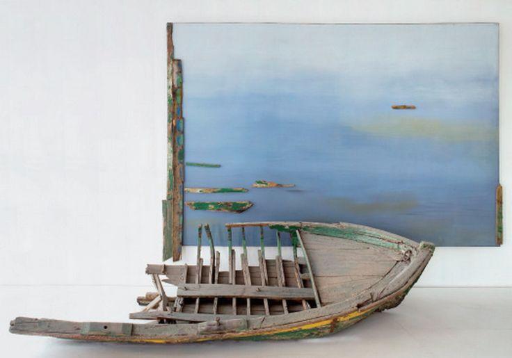 ''Boat'' 1982 by Kostas Tsoklis--Τσόκλης Κώστας-Βάρκα, 1982
