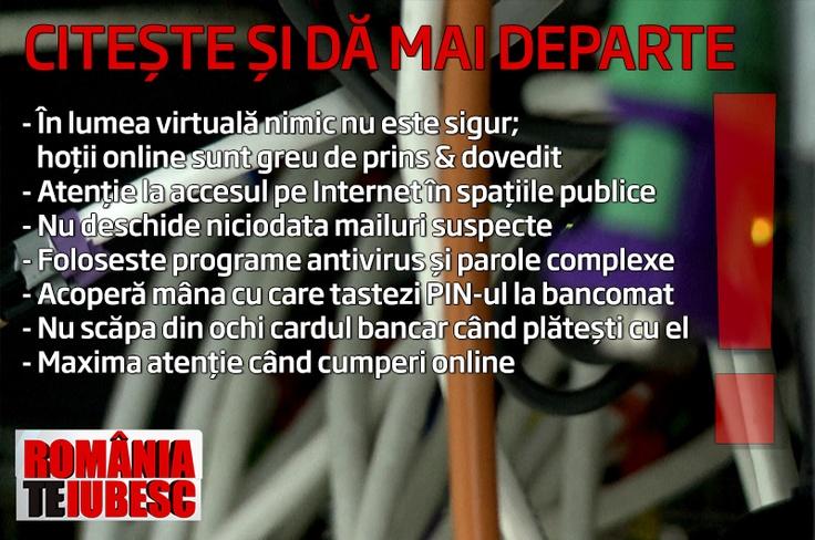 Iata cateva sfaturi pentru a va proteja de atacuri informatice.