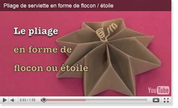 Pliage de serviettes en flocon toile origami et - Pliage de serviette en flocon ...